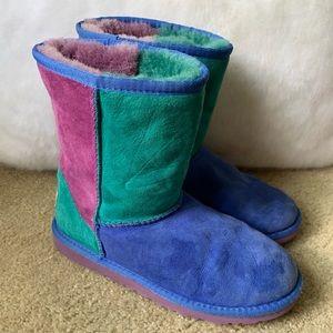 UGG Multicolor Suede Short Boots Size 5